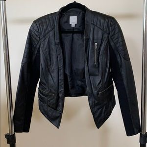 Halogen Small Leather Jacket